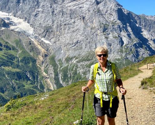 Wandern am Titlis bei Engelberg in der Schweiz