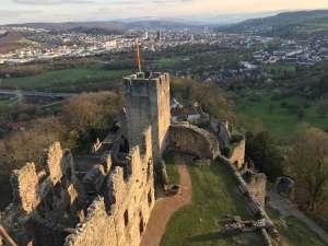 Lörrach Blick von Burg Rötteln
